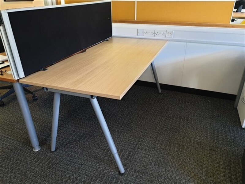 additional images for Ikea Galant Oak Top Desk
