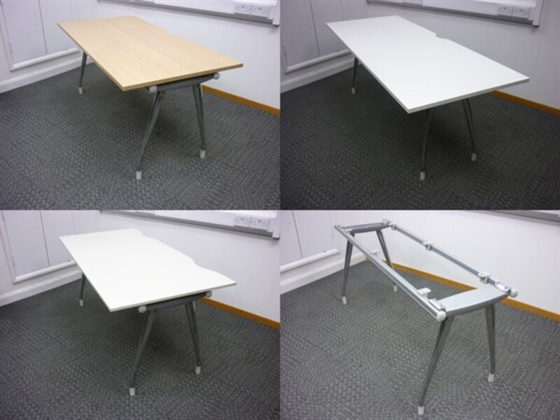 additional images for Herman Miller Abak Bench System Chrome Leg Frames & Top