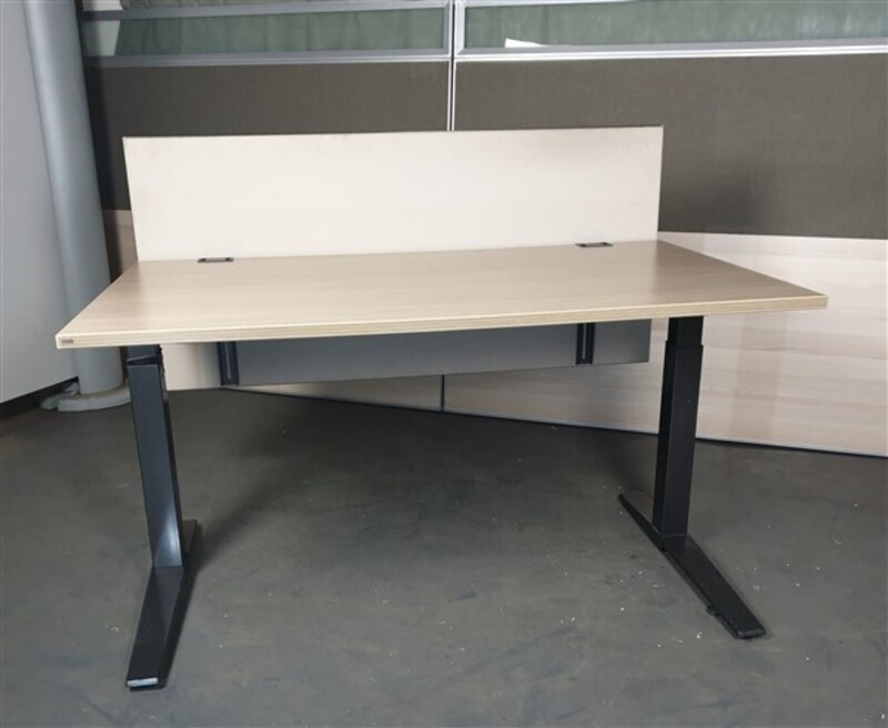 additional images for Oak height adjustable desk