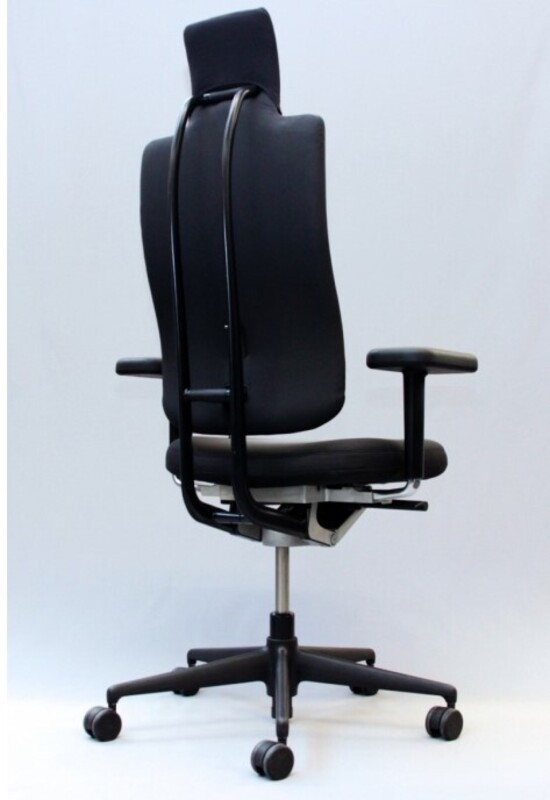 additional images for Vitra Headline task chair in black with black spine