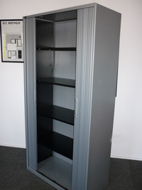 additional images for Triumph silver 1970mm high tambour cupboard