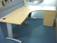additional images for Maple Verco Visual Beam 1800x1600mm combi desks