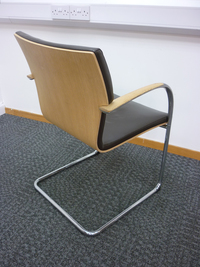 additional images for Brown leather meeting chair (CE)