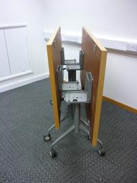 additional images for 1500 x 1750mm Sedus beech veneer top tilt tables (CE)