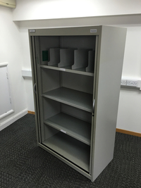 additional images for Grey 1650mm high Flexiform tambour cupboards