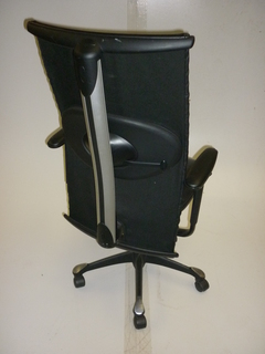 additional images for HAG H09 black Antigo leather meeting chairs