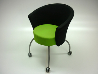 Bobbin lime greenblack receptionmeeting chairs
