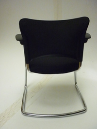 additional images for Black fabric with chrome frame cantilever meeting chair