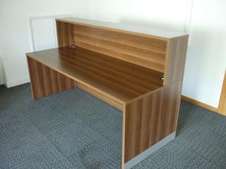 additional images for Walnut 2000x800mm reception desk