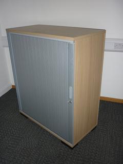 additional images for 1200mm high Senator oak tambour cupboard