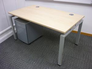 additional images for Senator Jigsaw 1600w x 800d mm maple desk