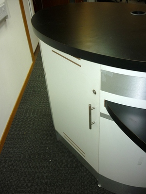 additional images for White/black unmanned reception desk