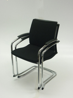 additional images for Black fabric Sedus Open UP stackable meeting chair