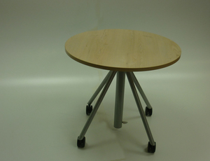 additional images for 800mm dia Senator maple rise and fall meeting table