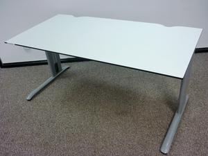 additional images for Task white trespa 1600w x 800d mm desks CE