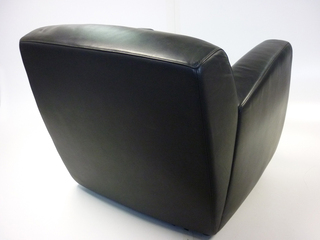 additional images for Whitmann black leather reception armchair (CE)