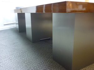additional images for 3600x1500mm high gloss walnut veneer table & credenza CE