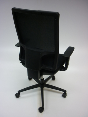 additional images for Sitland black fabric, mesh back task chair CE