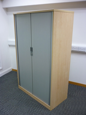 additional images for 1630mm high Tangent Qore Maple tambour cupboard