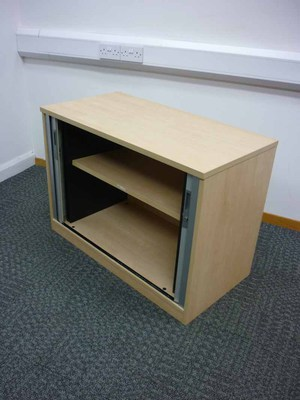 additional images for Desk high Tangent Qore maple tambour front cupboard