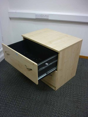 additional images for Maple Dams desk high maple 2 drawer side filer
