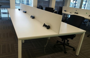 additional images for 1100w x 800d mm White bench desk tops (CE). Price per person block of 4: