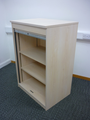 additional images for 1200h x 800w mm high maple FFC tambour cupboard
