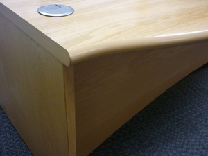 additional images for 2000w x 1200d mm Oak Fulcrum Executive desk by Sven