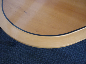 additional images for 4300 x 1500mm cherry veneer elliptical boardroom table