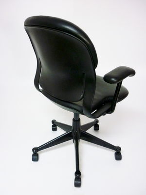 additional images for Herman Miller Equa 1 leather chairs