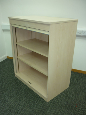 additional images for 1200h x 1000w mm high FFC maple tambour cupboards
