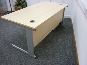 additional images for Maple rectangular desk 1600w x 800d mm