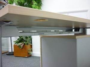 additional images for Mobili K2C maple rectangular desk 1200w x 800d mm