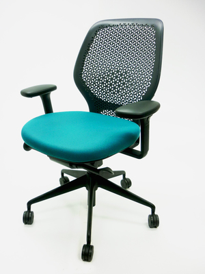 additional images for Orangebox ARA task chair with arms in blue, red or green