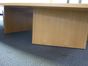 additional images for 4000x2000/1500mm beech veneer barrel shape boardroom table