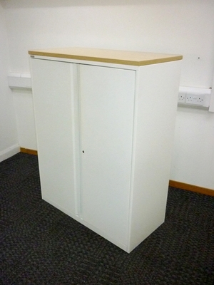additional images for 1300mm high white Triumph metal cupboards