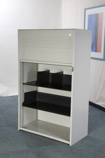 additional images for 1600mm high Flexiform grey tambour cupboard