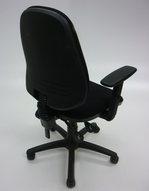 additional images for Black 2 lever operator chairs with arms