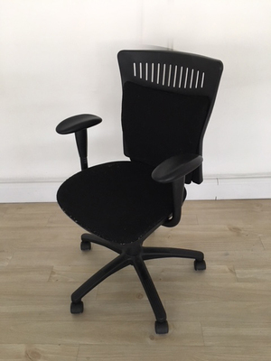 additional images for Black 2 lever styled operator chairs with arms