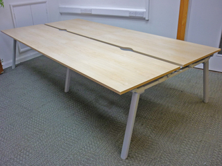 Maple 1600mm Senator Crossover bench desking per position