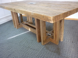 additional images for 2430mm x 1195mm reclaimed plank style boardroom table (CE)