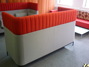 additional images for Allermuir Haven grey & red acoustic sofas (CE)