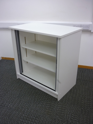 additional images for 1000mm high white tambour cupboards