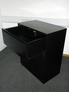 additional images for Black 3 drawer side filer