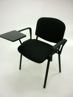 Charcoal Club conference chairs with writing tablet