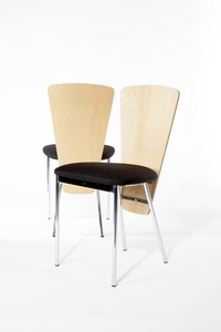 additional images for 20 x Black/beech Allermuir Wafer café chair from