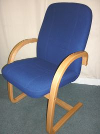additional images for Set of 5 Blue Fabric Wallis Westminster Meeting Chairs