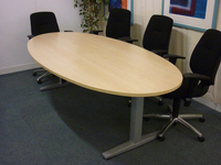 additional images for Herman Miller Abak 2400x1200mm maple oval table