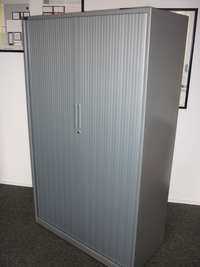 additional images for Triumph silver 1680mm high tambour cupboard