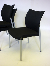 additional images for Black Senator Trillipse 4 leg stacking chairs